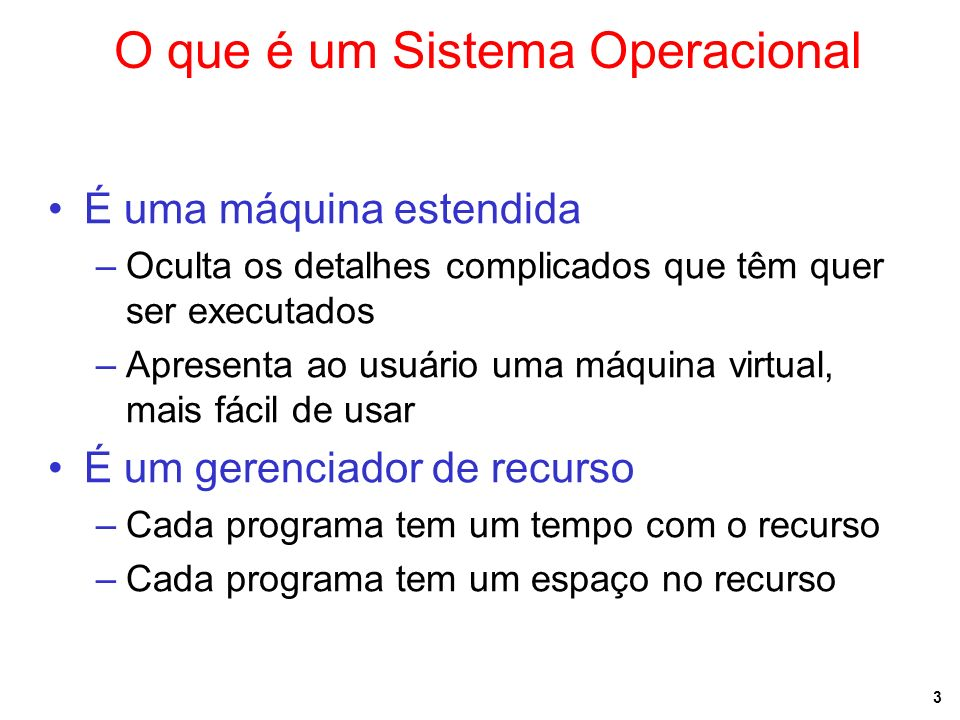O que é um Sistema Operacional