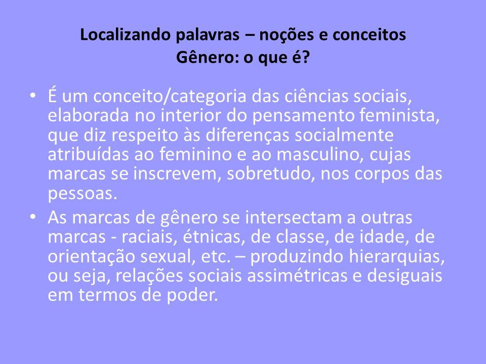 Localizando palavras – noções e conceitos Gênero: o que é