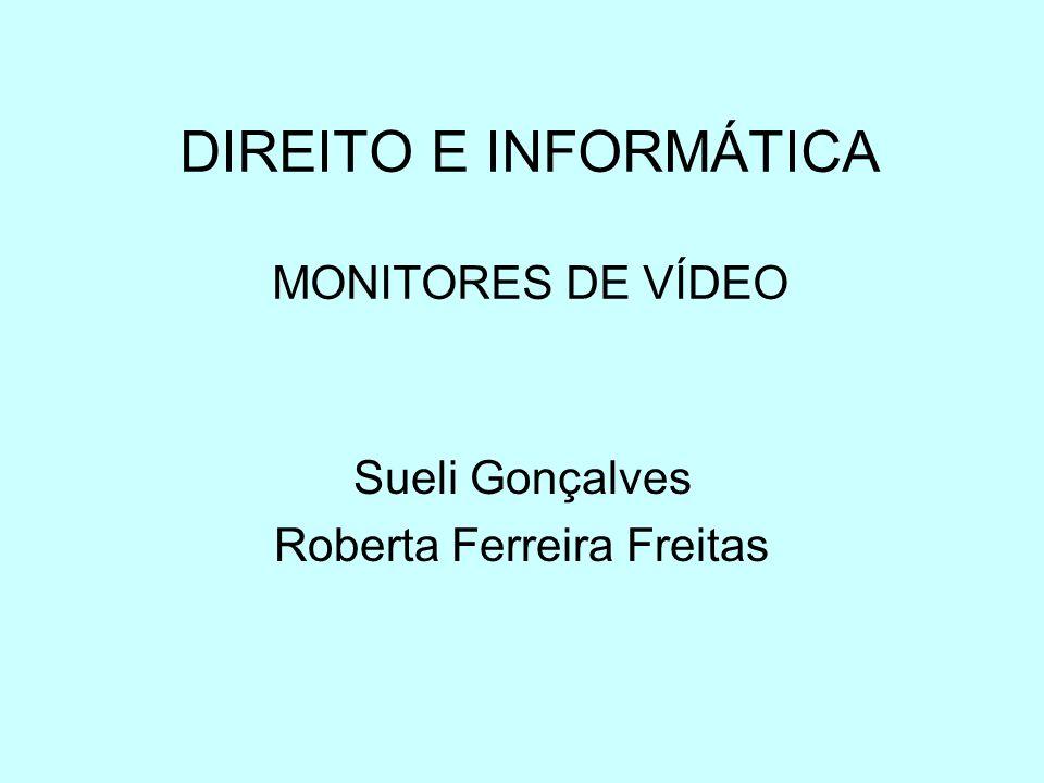 DIREITO E INFORMÁTICA MONITORES DE VÍDEO