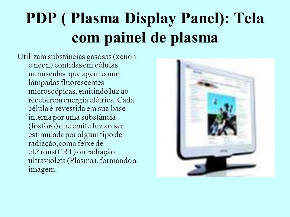 PDP ( Plasma Display Panel): Tela com painel de plasma