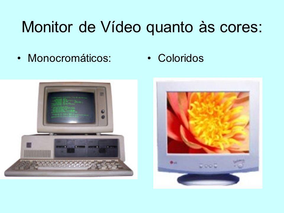 Monitor de Vídeo quanto às cores: