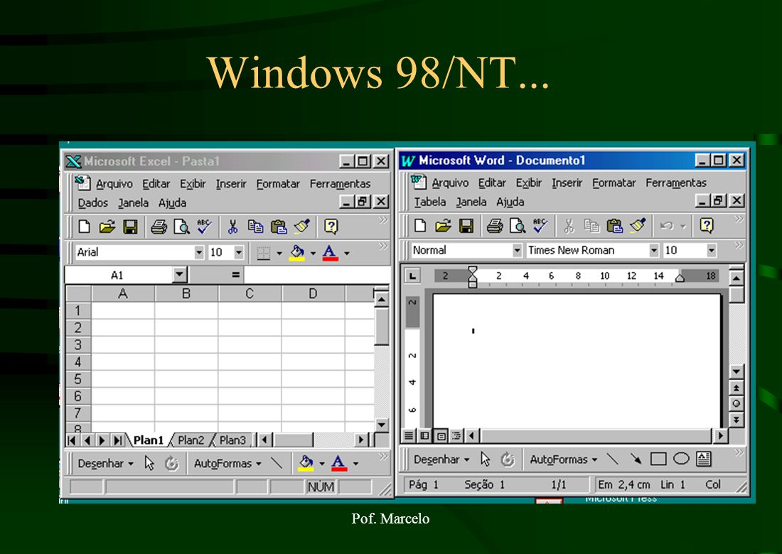 Windows 98/NT... Pof. Marcelo