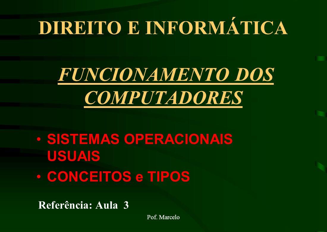DIREITO E INFORMÁTICA FUNCIONAMENTO DOS COMPUTADORES