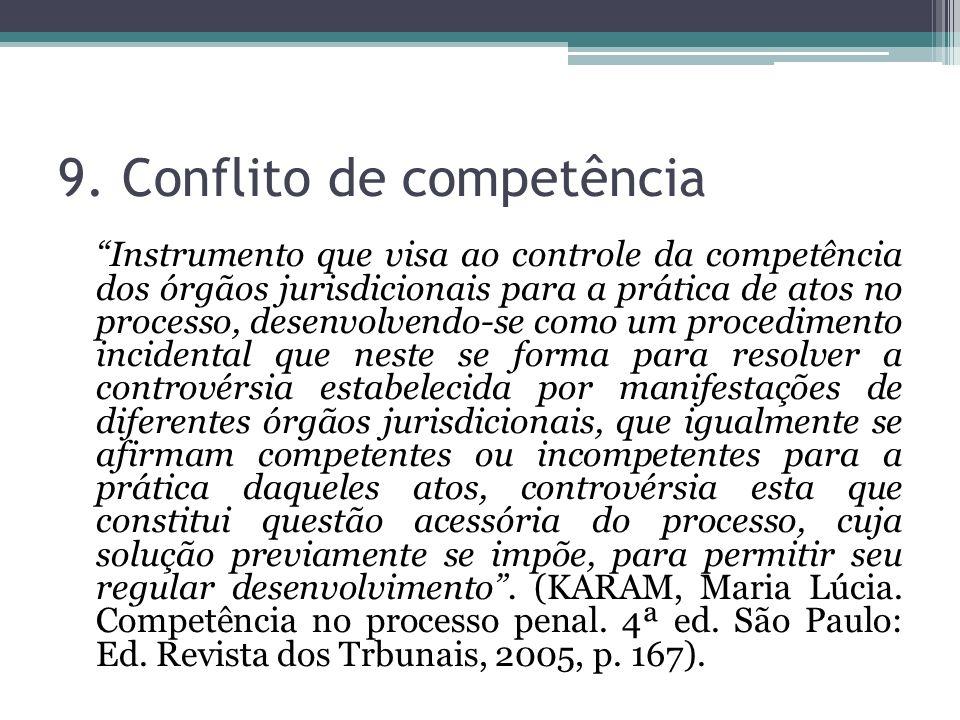 9. Conflito de competência