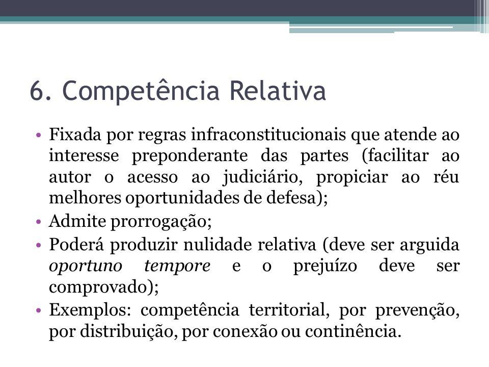 6. Competência Relativa