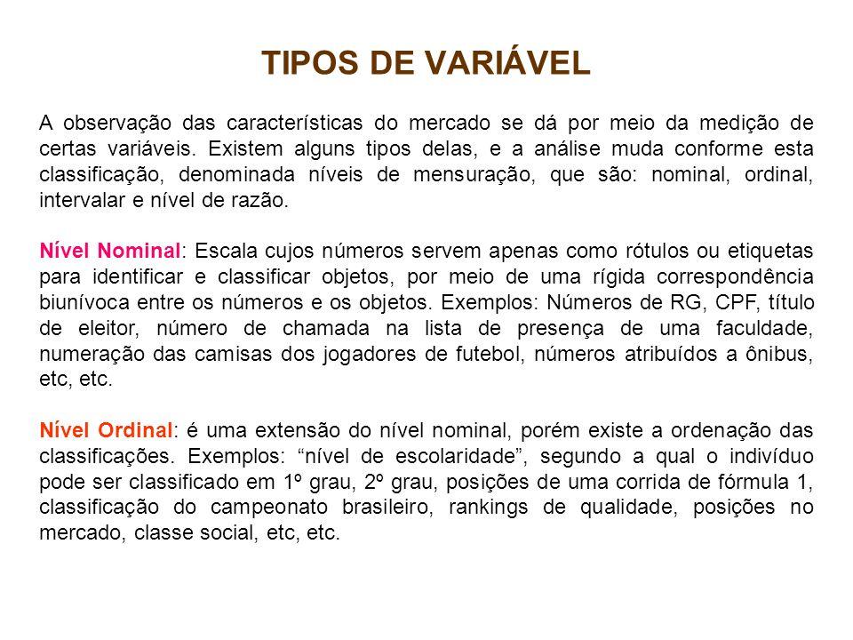TIPOS DE VARIÁVEL