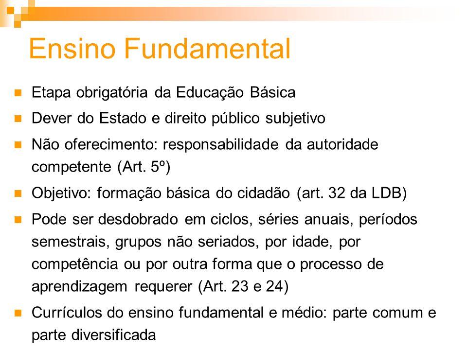 Ensino Fundamental Etapa obrigatória da Educação Básica