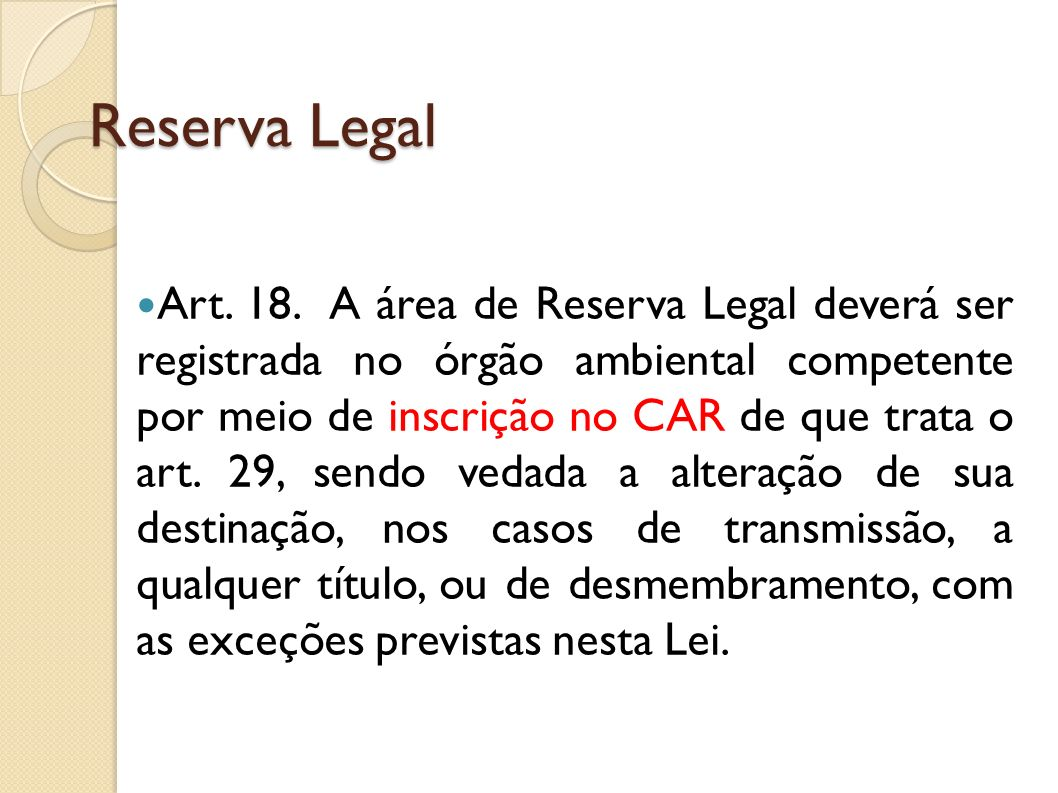 Reserva Legal
