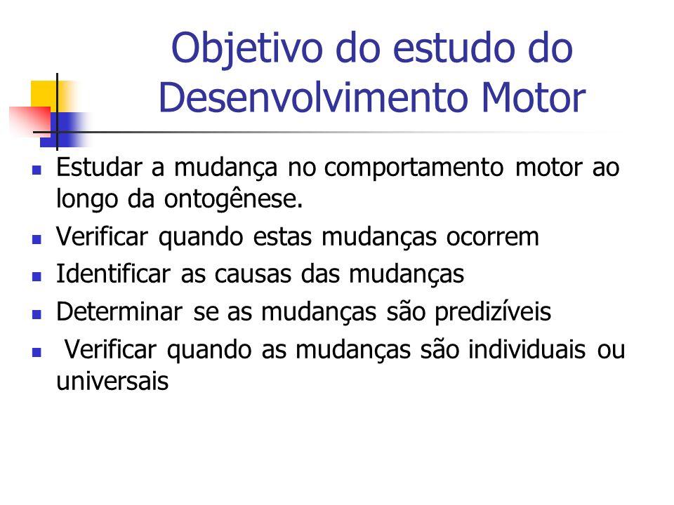 Objetivo do estudo do Desenvolvimento Motor