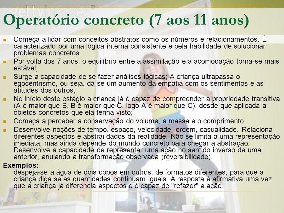 Operatório concreto (7 aos 11 anos)