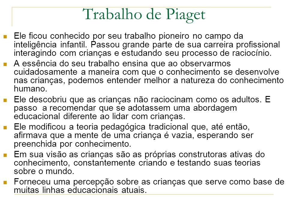 Trabalho de Piaget