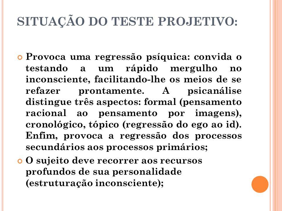 SITUAÇÃO DO TESTE PROJETIVO: