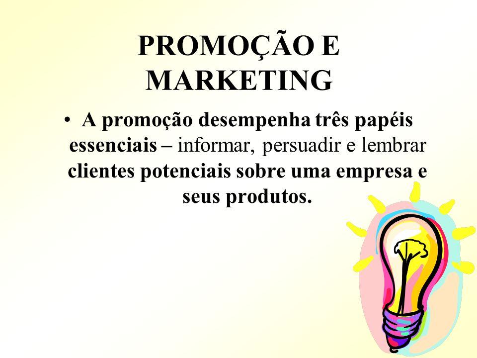 PROMOÇÃO E MARKETING