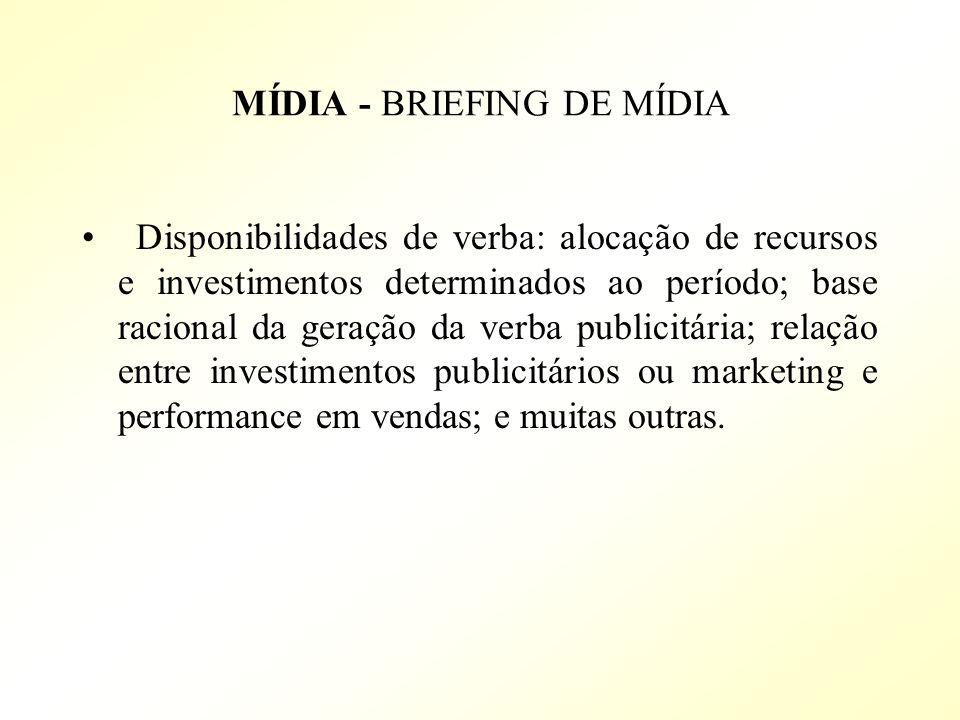 MÍDIA - BRIEFING DE MÍDIA