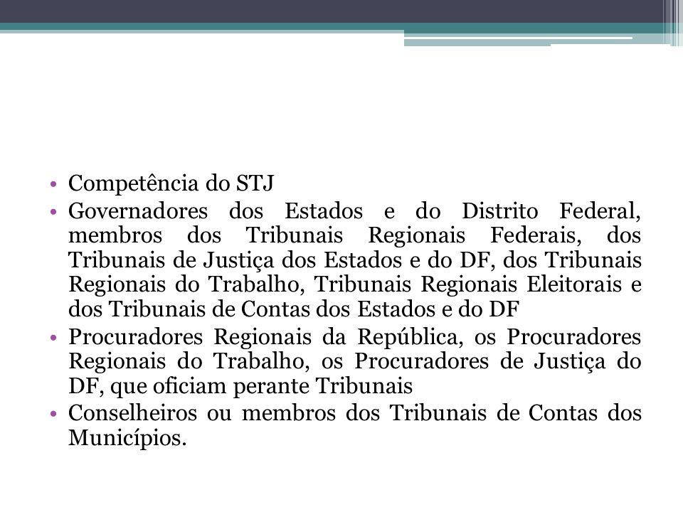 Competência do STJ