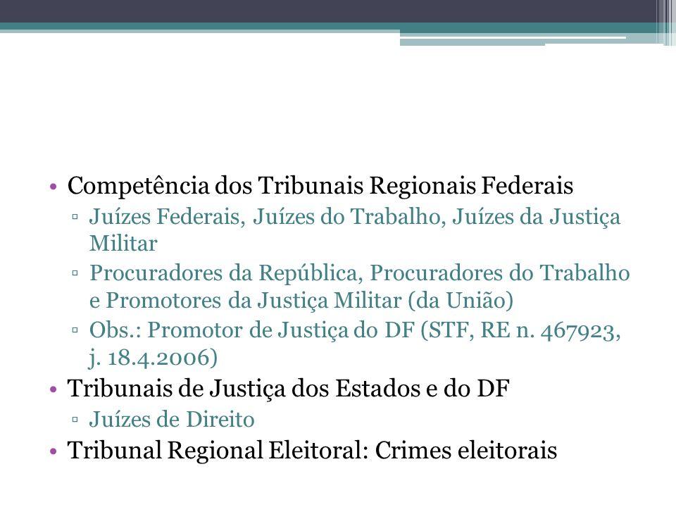 Competência dos Tribunais Regionais Federais