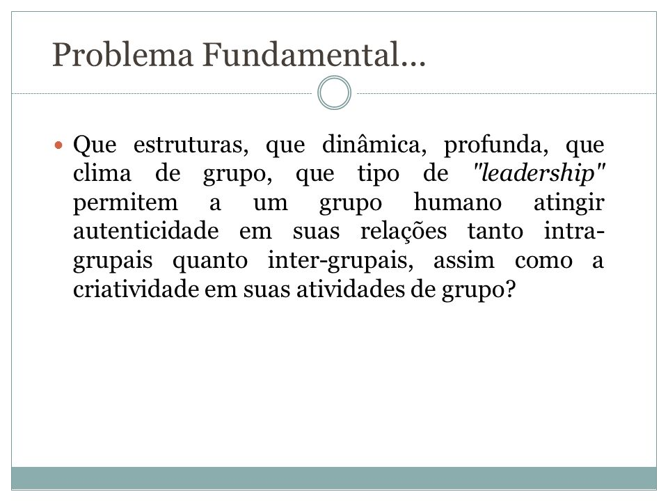 Problema Fundamental...