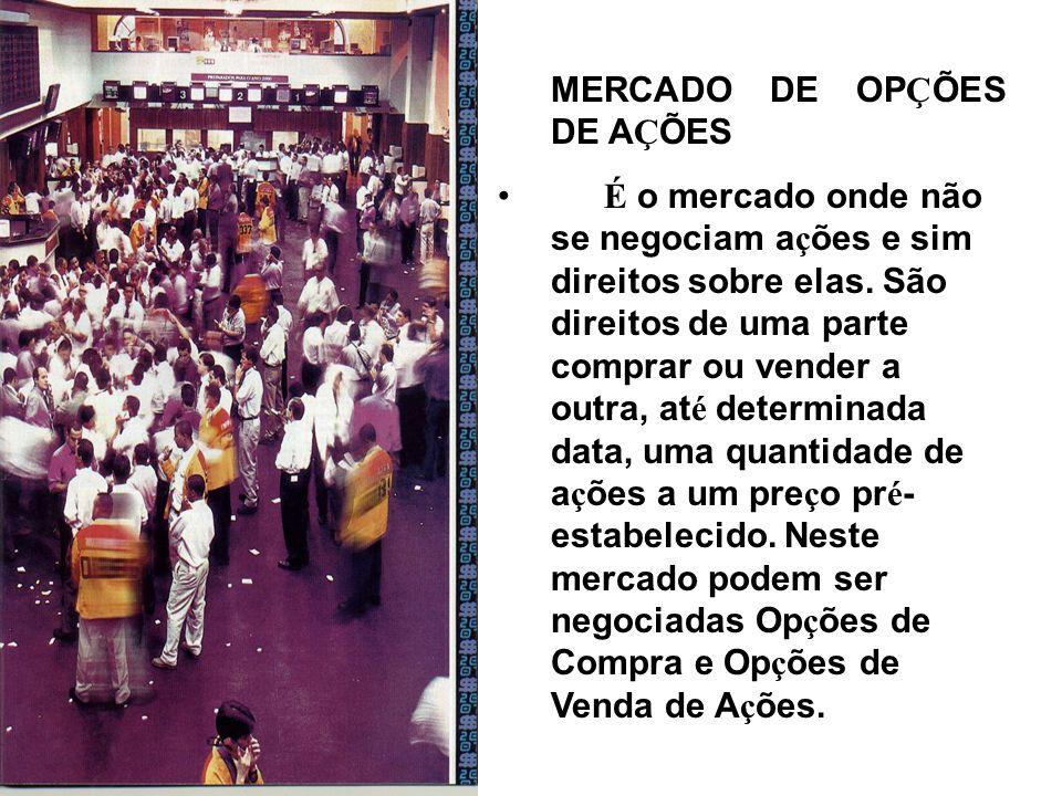 MERCADO DE OPÇÕES DE AÇÕES