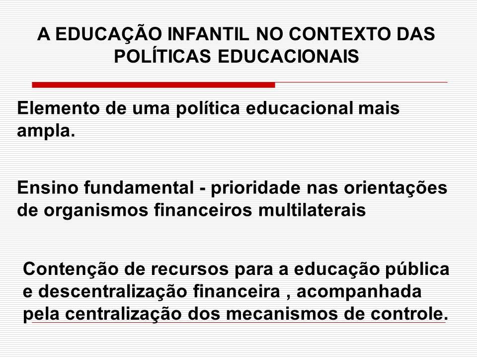 A EDUCAÇÃO INFANTIL NO CONTEXTO DAS POLÍTICAS EDUCACIONAIS