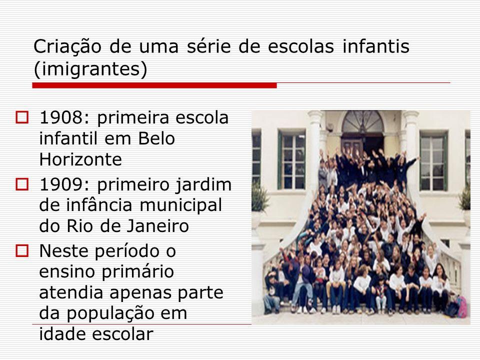 Criação de uma série de escolas infantis (imigrantes)