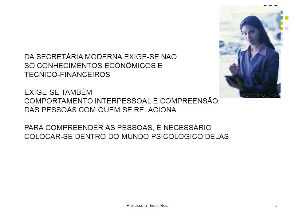 Professora - Irene Reis