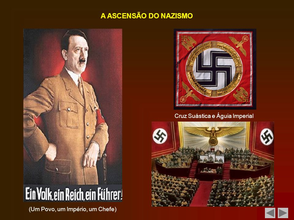A ASCENSÃO DO NAZISMO Cruz Suástica e Águia Imperial
