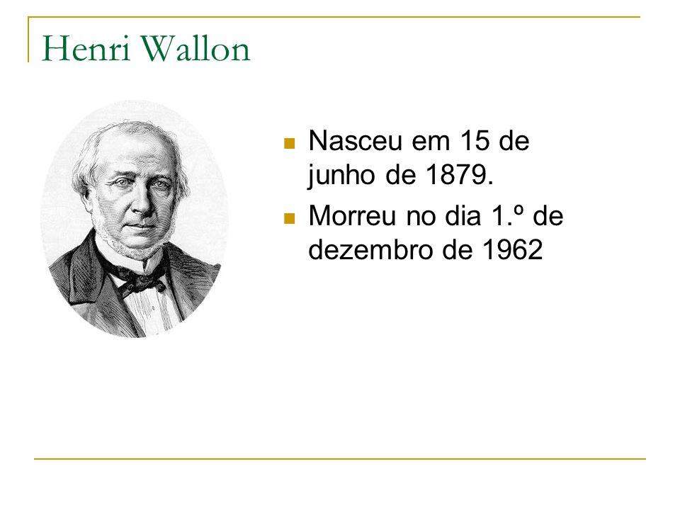 Henri Wallon Nasceu em 15 de junho de 1879.