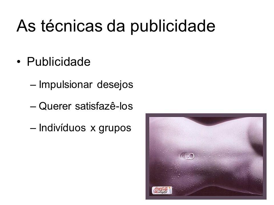 As técnicas da publicidade