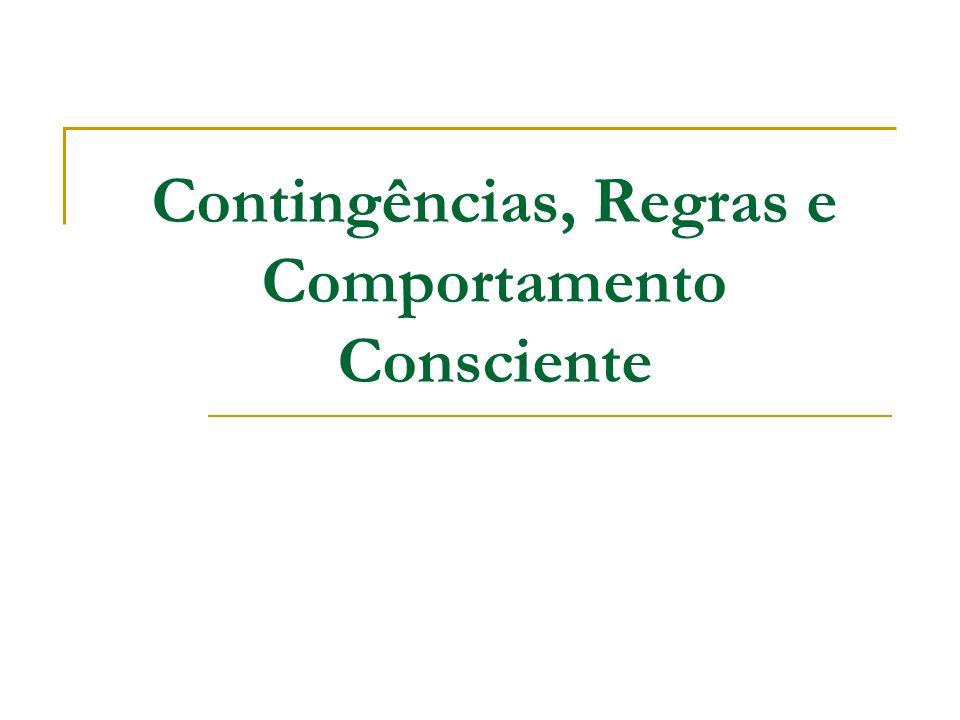 Contingências, Regras e Comportamento Consciente