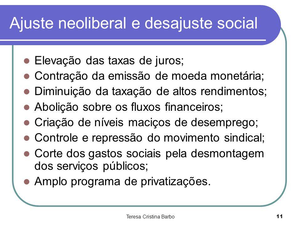 Ajuste neoliberal e desajuste social