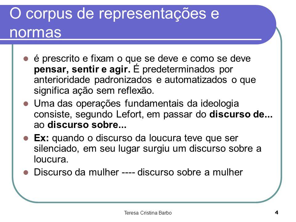 O corpus de representações e normas