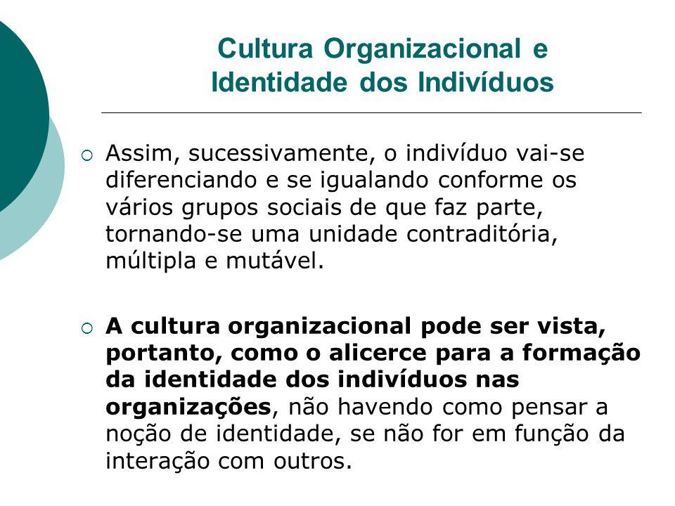 Cultura Organizacional e Identidade dos Indivíduos