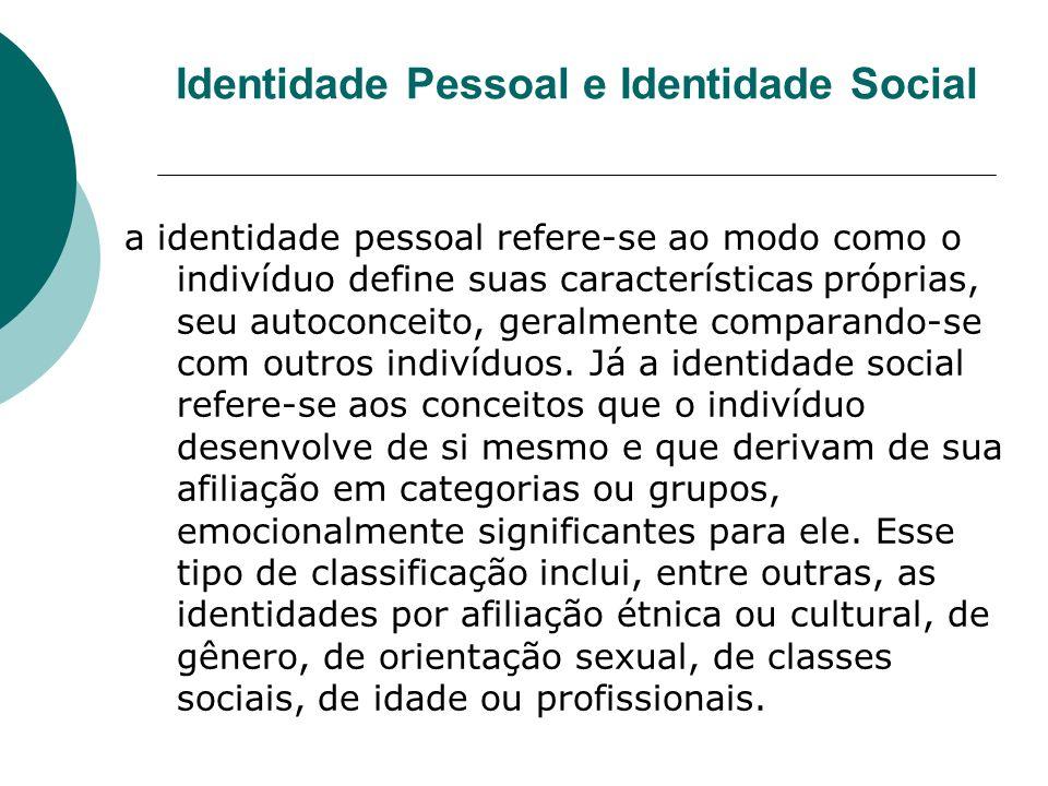 Identidade Pessoal e Identidade Social