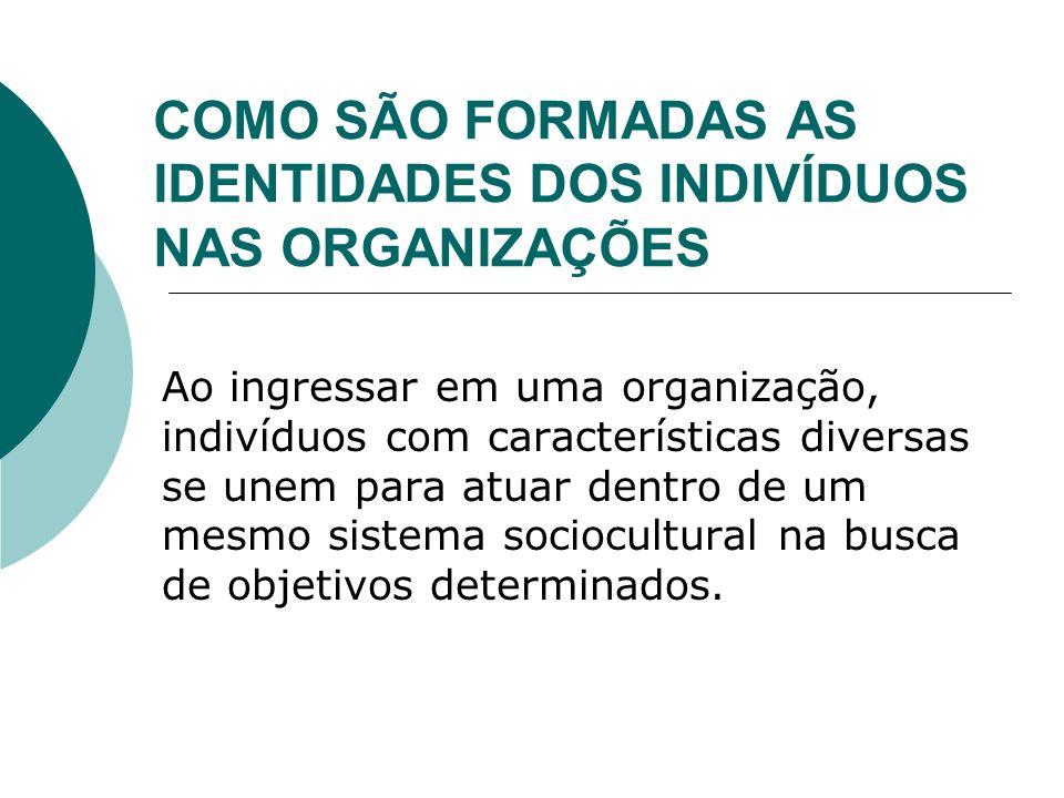 COMO SÃO FORMADAS AS IDENTIDADES DOS INDIVÍDUOS NAS ORGANIZAÇÕES