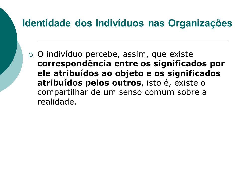Identidade dos Indivíduos nas Organizações