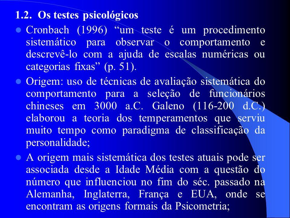 1.2. Os testes psicológicos