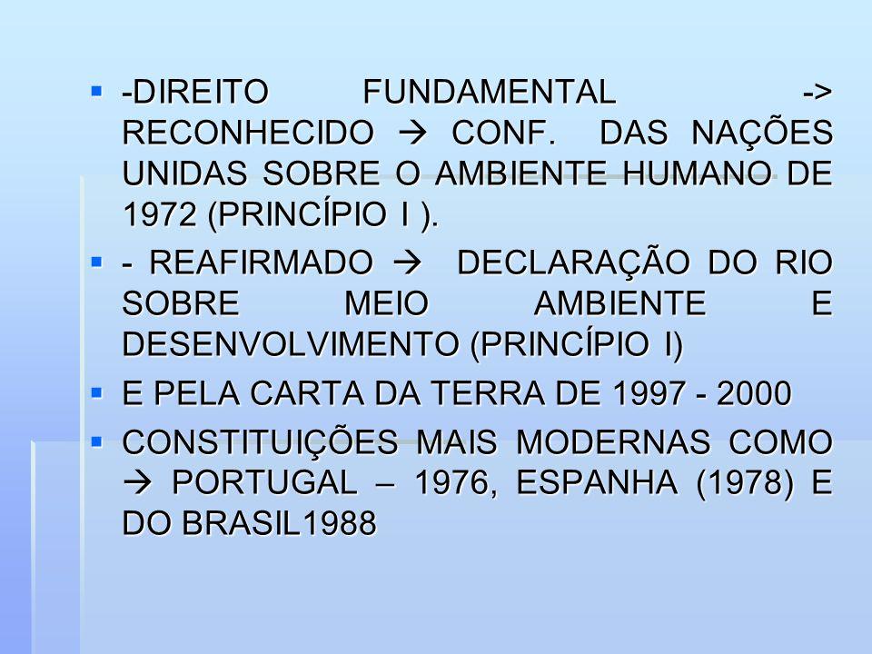 -DIREITO FUNDAMENTAL -> RECONHECIDO  CONF