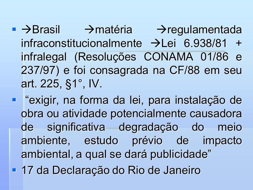Brasil matéria regulamentada infraconstitucionalmente Lei 6