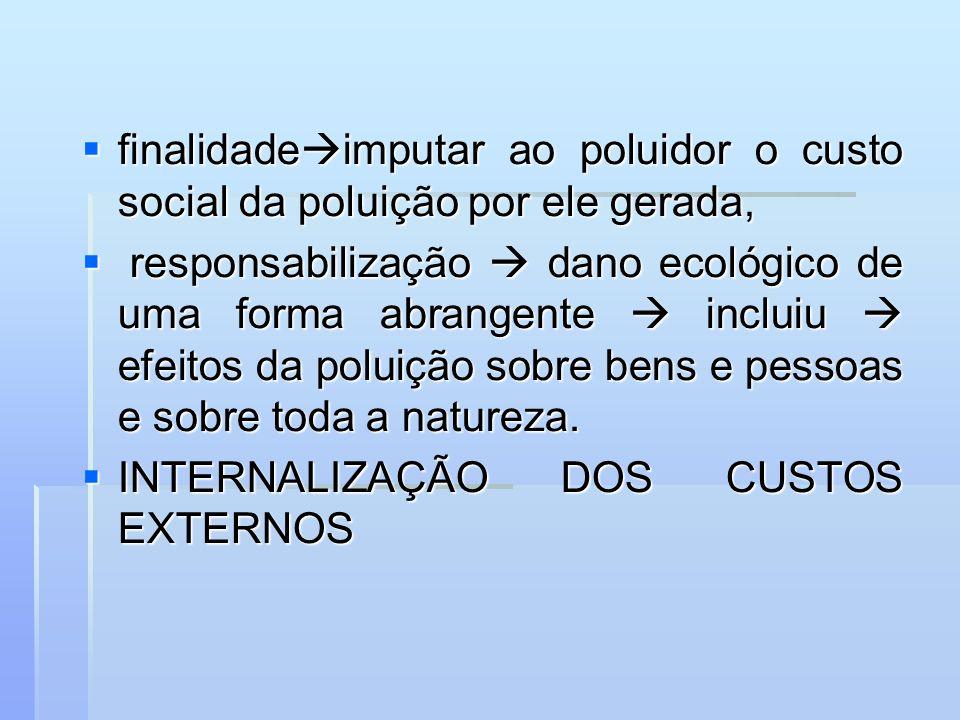 finalidadeimputar ao poluidor o custo social da poluição por ele gerada,