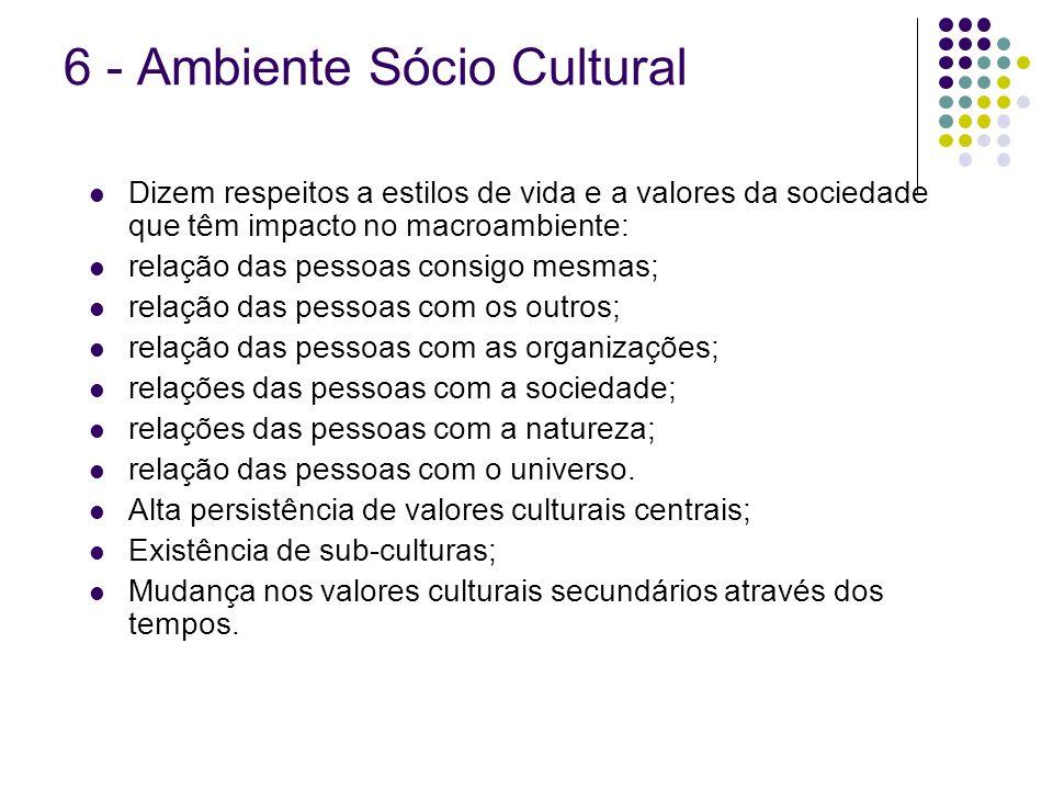 6 - Ambiente Sócio Cultural