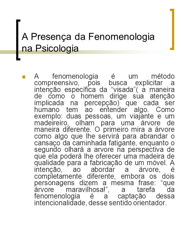 A Presença da Fenomenologia na Psicologia