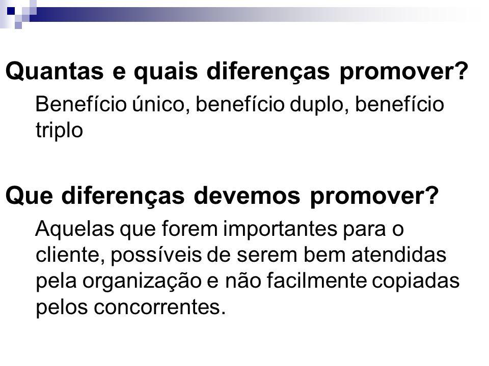 Quantas e quais diferenças promover