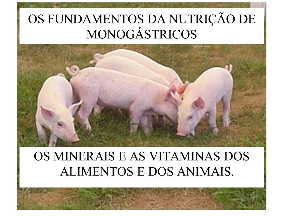 OS FUNDAMENTOS DA NUTRIÇÃO DE MONOGÁSTRICOS