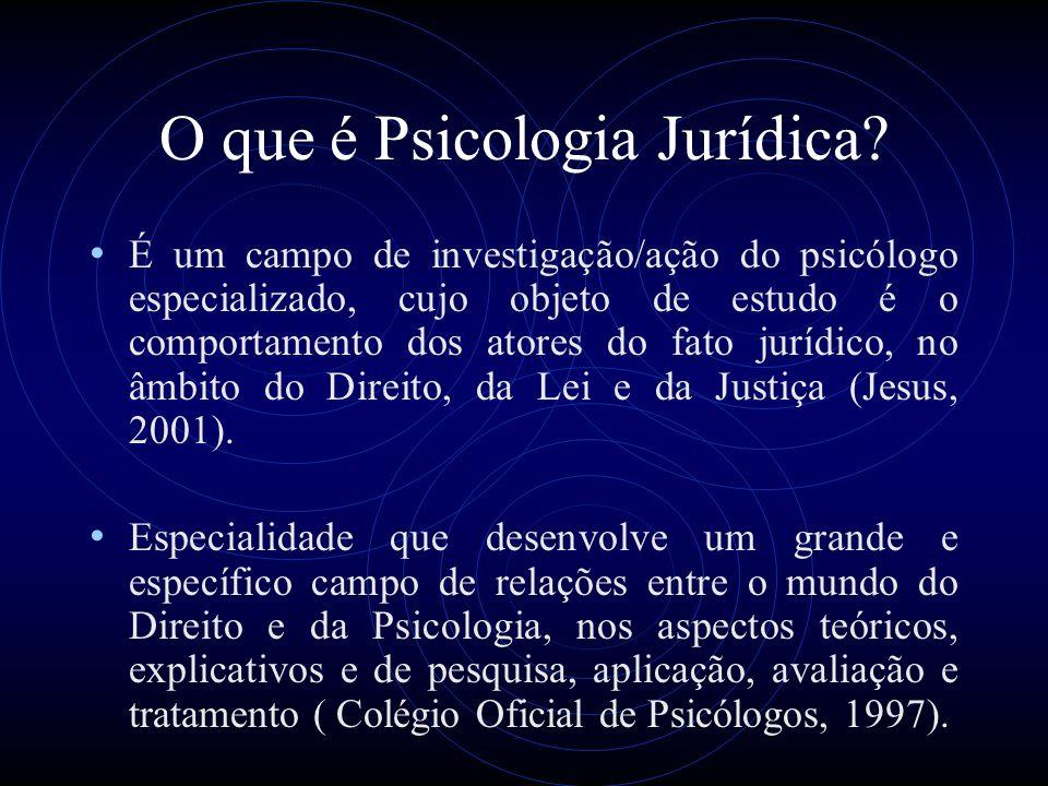 O que é Psicologia Jurídica