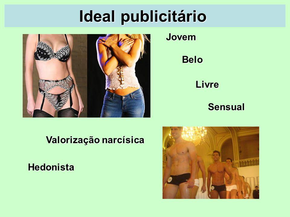 Ideal publicitário Jovem Belo Livre Sensual Valorização narcísica