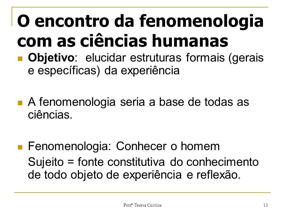 O encontro da fenomenologia com as ciências humanas