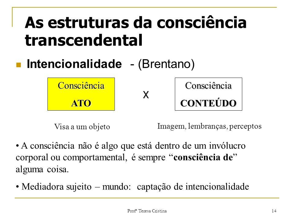 As estruturas da consciência transcendental