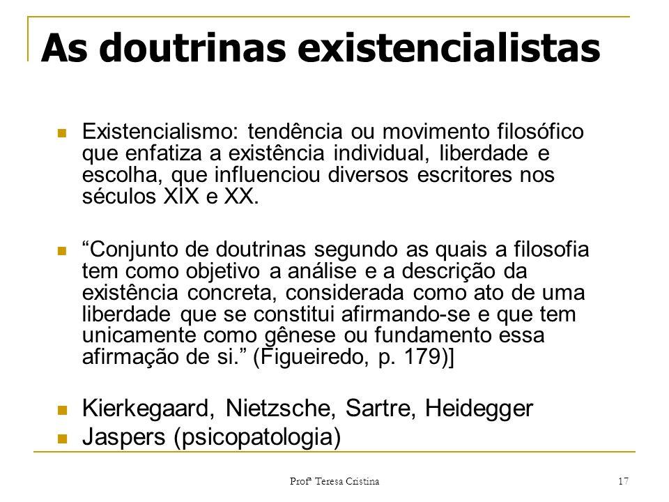 As doutrinas existencialistas