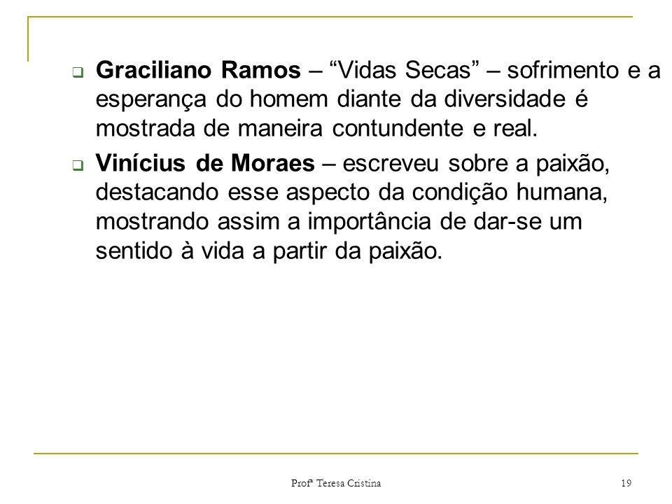 Graciliano Ramos – Vidas Secas – sofrimento e a esperança do homem diante da diversidade é mostrada de maneira contundente e real.