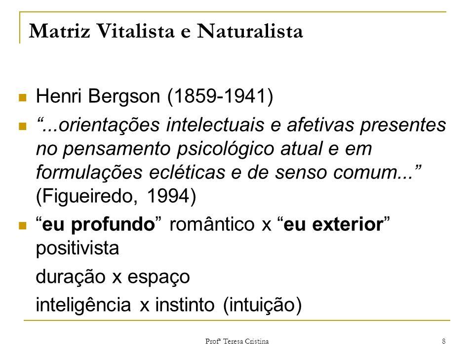 Matriz Vitalista e Naturalista
